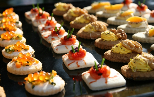 canapes for a party London, canape recipes, canape suggestions for party, luxury canapes for party, what food for my party,