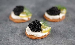 Luxury canapes
